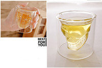 Wholesale Crystal Skull Head Bone Glass Vodka Wine Bar Shot Drinking Cup Bottle Party in stock