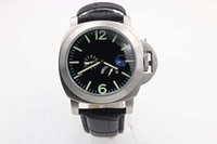 battery time - Luxury Brand New Blue Dial Black Leather Belt Mens AAA Stainless Dezel Watch Men s Sports Wrist Watchesver