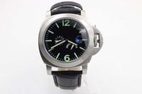 battery belts - Luxury Brand New Blue Dial Black Leather Belt Mens AAA Stainless Dezel Watch Men s Sports Wrist Watchesver