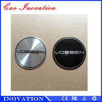 Wholesale VOSSEN Car logo Mental Emblem wheel center cap cover Emblem Badge stickers for all car diameter