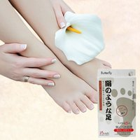 Wholesale 1Pair Remove Dead Skin Butterfly Baby Foot Peeling Renew Mask Cuticle Heel Foot Care M01116