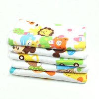 Wholesale New Cute Baby Soft Washcloth Animals Pattern Cotton Gauze Bath Towel Blankets order lt no track