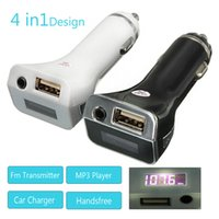 Wholesale LCD mm Audio Wireless FM Transmitter USB Car Charger Handsfree MP3 Player kit colours