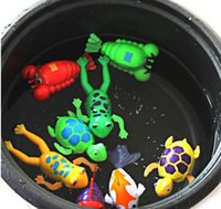 Silent < 3 years old Unisex Cute Wind-Up Clockwork Bath Toys Animals Frog Fish Baby Shower Swimming Pool For Baby Kids Gift Randomly