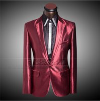 mens dress suit - New Men Groom Casual Wedding Dress Prom Suits Mens Suits Tuxedo Business Slim Red Suits For Wedding Blazers