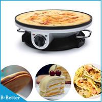 Wholesale 100 Brand New Piece Electric Frying Pan Pancake Maker V EU plug Pancake Machine Household Crepe Pancake Machine Free ship