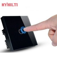 Wholesale China Hilti UK Model Touch Screen Glass Panel Touch Control Wall Switches Single Gang