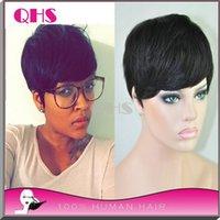 cheap wigs - Hot sale human short hair wigs glueless full lace wigs brazilian wigs none lace cheap human wigs for black women