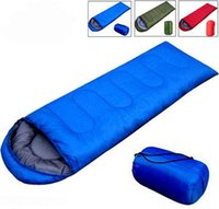 Wholesale EMS Free Ship Spring Envelope Style Cotton Filling Sleeping Bag Hiking Camping Sleeping Bags