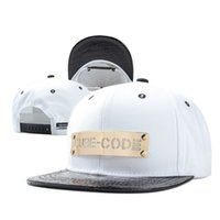 baseball codes - 3 color Hip Hop Cube Code Snapback Baseball PU Caps Unisex Sports Adjustable Bone Women Leather Hats Men gorras Caps Casual A106