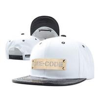 baseball cubes - 3 color Hip Hop Cube Code Snapback Baseball PU Caps Unisex Sports Adjustable Bone Women Leather Hats Men gorras Caps Casual A106