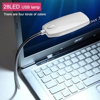 Wholesale 10Pcs New Arrival Ultra Bright Flexible LED USB Book light reading lamp LEDs Colors for Laptop Notebook PC Computer
