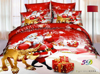 bedding comforter sham - In Stock D Bedding Sets Christmas bedding set Bed Set Full Queen Size Duvet Cover Fitted Sheet Flat Sheet Pillow Shams Bedding Supplies