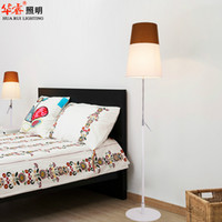 Wholesale Modern light floor lamp fixtures colorful fabric lampshade standing lamps adjustable light poles standing indoor lightings Vintage Decor
