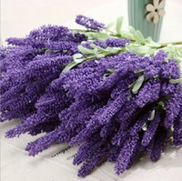 Wholesale 12pcs Provence lavender flowers artificial plants artificial flower decoration flower silk flower simulation
