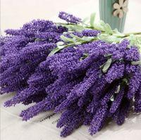 artificial plants - 12pcs Provence lavender flowers artificial plants artificial flower decoration flower silk flower simulation
