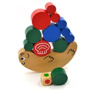 Wholesale Real Manufactuer Price Wooden Toys Snail Balancing Puzzle Toys DIY Puzzle Toy Pile Assemble ToyTower Toys For Children