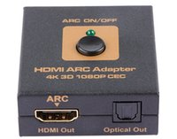 340MHz hdmi dvd player - HDMI ARC Adapter Audio Video Spitter For K D P Toslink for Blueray DVD player PS4 Xbox