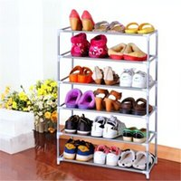 Wholesale New Silver Metal Shoes Rack Shelf Combination Storage Household Organizer Holder Tiers