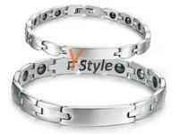 Wholesale Women s Titanium Bracelets with Magnets Ladies Fashion Titanium Ion Bracelets Drop Shipping YS G