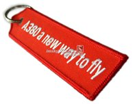 best flying car - Fashion Jewelry Key Chains Airbus Key Chain with Orange Embroider quot A380 a new way to fly quot Car Key RIng Best Gift