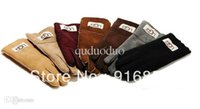 Wholesale genuien leather lambskin gloves double face leather gloves lady and gentleman gloves Australia Brand