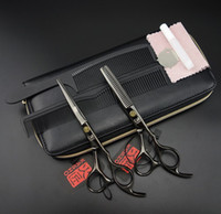 Wholesale 6 inch Professional Hair dressing scissors set Cutting Thinning Barber shears kits combs k214