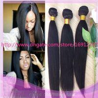 yaki weave hair - 2015 HOT Light Yaki Straight Virgin Hair Weaves Extensions Human Hair Italian Light Yaki Virgin Indian Hair Weft Bundles