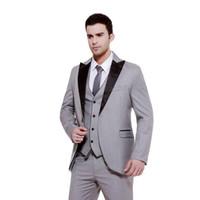 assorted images - 2015 Handsome Men s forma suits three Piece Suit Jacket Groom Wedding Suits Assorted Colors Dance Party Suits jacket pants tie A1