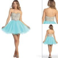 Cheap Reference Images Aqua Prom Dresses Best Ball Gown Sweetheart ball gown Prom Dresses