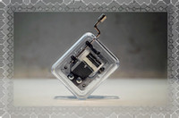 Wholesale Hand cranked music box music box transparent common Laputa birthday present more optional multi song song Optional