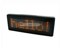 Wholesale LED Name Badge Scrolling Sign Message Display English and EU Languages Orange Color mm Length x29 Pixels