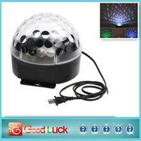 Wholesale 2015 new arrival Voice activated RGB LED Crystal Magic Ball laser DJ party Stage Lighting bulb Effect mini stage light lamp