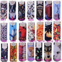 ladies socks - HOT sale ladies socks D printing short paragraph socks free size socks boot socks warm pair