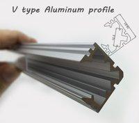 Cheap V type corner LED profile led aluminium profile with cover for led strip light wardrobe light corridor light