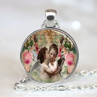 Cheap Angel pendant, Angel Necklace, Angel Jewelry, Angel Charm, Baby Angel Kiss Necklace, Silver(PD0158)