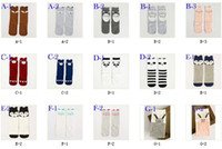 baby pads - 2015 Fashion unisex cartoon Animal leg warmers baby girls boys knee high Totoro Panda Fox socks kids cute Striped Knee Pad sock BY0000