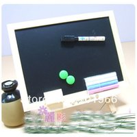 board eraser with marker - Large Logs Magnetic Black White Drawing Board Writing Board with Eraser Marker Chalk Magnet