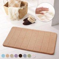 Wholesale 17 quot x24 quot Non slip Mats Carpet Rug Memory Foam Bath Doormat Mat Bathroom bath room kitchens Horizontal Stripes Rugs Bedroom