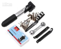 Wholesale 16 in Bike Bicycle Tyre Repair Multifunctional Tool Set Kit Portable Mini Pump