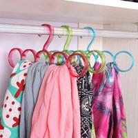 Wholesale Scarf Tie Drying Hangers Plastic Rack Multi function Ring Rope Hanger Racks Storage Household Organizer JE0142 Salebags