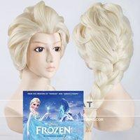 Wholesale Harajuku Disney Movies Frozen Snow Queen Elsa Blonde Weaving Braid Cosplay Wigs