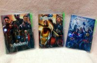 Wholesale 50pcs Avengers Notebook with a Pen Student Diary x7CM Book Movie Captain America Iron Man Thor Hulk Black Widow Notepad Factory Price