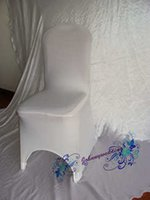 Wholesale Sample order Good Quality Spandex Chair cover white Color Common size Lycra Chair Cover for Wedding to Russia