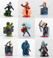 best refrigerator freezers - 2016 Iron Man Captain America PVC Figurines Refrigerator Freezer Magnets DIY Home Decoration Best Toy Gift Inch Mix styles E456L