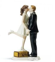 baseball figurine - resin wedding cake toppers party decorations supplies bride and bridegroom Figurine cake topper baseball kissing on the box