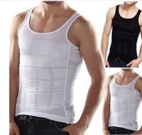 Wholesale Hot Men s Sexy Slimming Tummy Body Shaper Belly Fatty Thermal slim lift Underwear Men Sport Vest Shirt Corset Shapewear Reducers Men s
