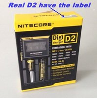 Wholesale Nitecore D2 LCD Universal Battery Smart Charger Digi d2 Channel battery charger for RCR123A AA AAA VS LUC