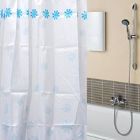 bathroom curtain shower prices - Beautiful Design Blue Flowers Waterproof Bathroom Bath Shower Curtain Polyester x70 quot Best Price