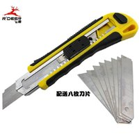 Wholesale R DEER in Double Color Plastic Handle Utility Knife with Blades